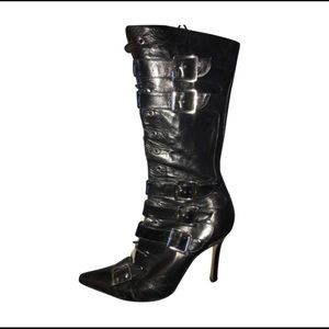 Dior Terror Leather Mid Calf Boots